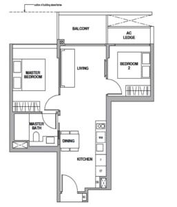 royalgreen-floor-plan-2-bedroom-b1-singapore