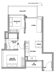 royalgreen-floor-plan-2-bedroom-b2-singapore