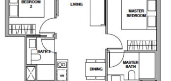 royalgreen-floor-plan-2-bedroom-premium-bp1-singapore