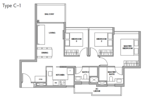 royalgreen-floor-plan-3-bedroom-c1-singapore