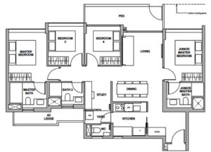royalgreen-floor-plan-4-bedroom-study-ds1-singapore